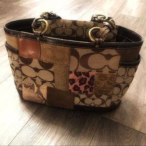 Coach Authentic Patchwork Tote
